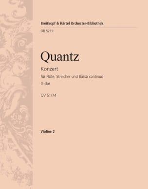 Flötenkonzert G-Dur QUANTZ Partition laflutedepan