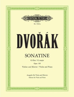 Sonatine G-Dur op. 100 - Viola - DVORAK - Partition - laflutedepan.com