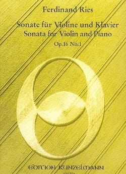 Sonate op. 16 n° 1 - Ferdinand Ries - Partition - laflutedepan.com