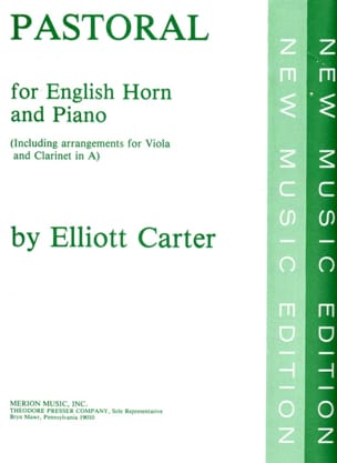 Pastoral - English horn piano - Elliott Carter - laflutedepan.com