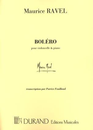 Boléro - Violoncelle piano RAVEL Partition Violoncelle - laflutedepan