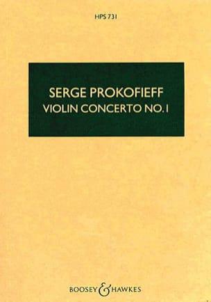 Concerto Violon n° 1 op. 19 - Score PROKOFIEV Partition laflutedepan