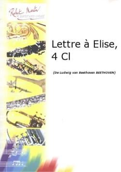 Lettre à Elise - Quatuor clarinettes BEETHOVEN Partition laflutedepan