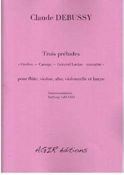 Trois Préludes DEBUSSY Partition Quintettes - laflutedepan
