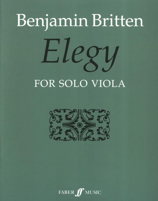 Elegy - BRITTEN - Partition - Alto - laflutedepan.com