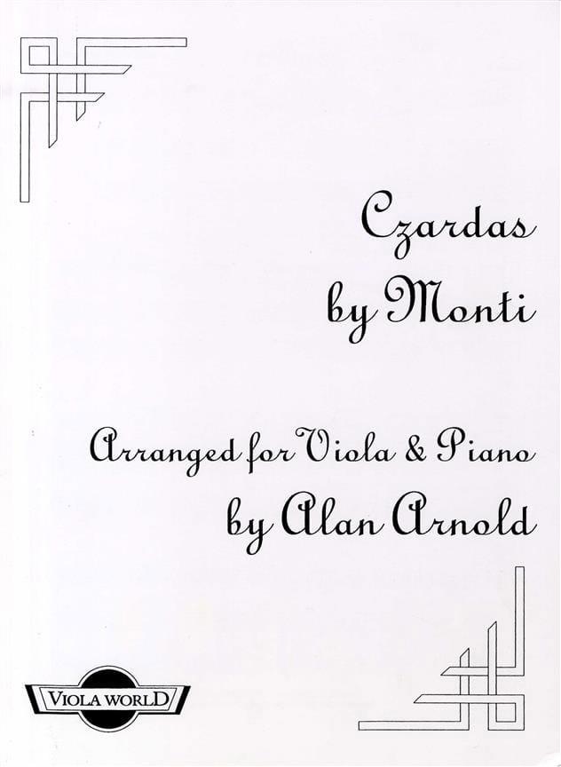 Czardas - Alto et piano - Vittorio Monti - laflutedepan.com