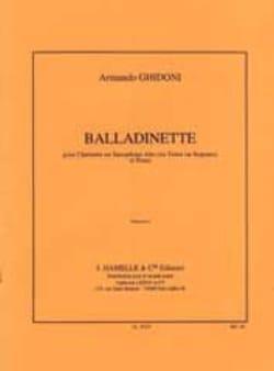 Balladinette Armando Ghidoni Partition Clarinette - laflutedepan
