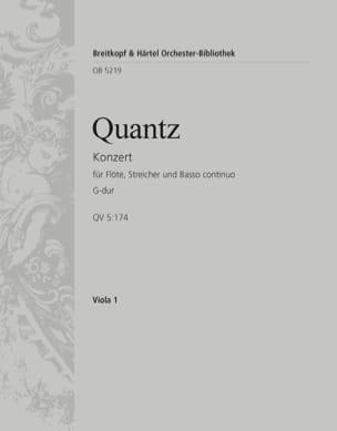Flötenkonzert G-Dur - Va QUANTZ Partition laflutedepan
