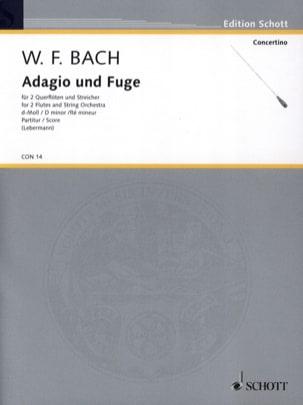 Adagio und Fuge d-moll, Falck 65 - 2 Querflöte Streicher laflutedepan