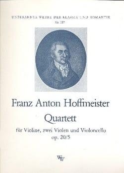 Quartett op. 20 Nr. 5 -Stimmen HOFFMEISTER Partition laflutedepan