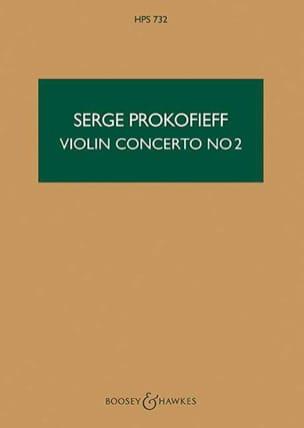 Serge Prokofiev - Violin Concerto No. 2 op. 63 - Score - Partition - di-arezzo.co.uk