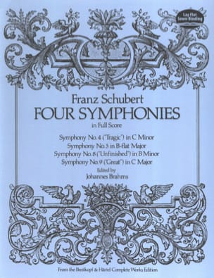 SCHUBERT - Four Symphonies - Conducteur - Partition - di-arezzo.fr