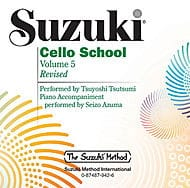 Cello School Volume 5 - CD Tsutsumi SUZUKI Partition laflutedepan