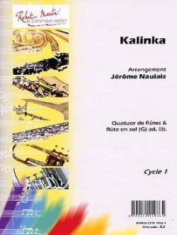 Kalinka - Arrgt 4 Flûtes Jérôme Naulais Partition laflutedepan