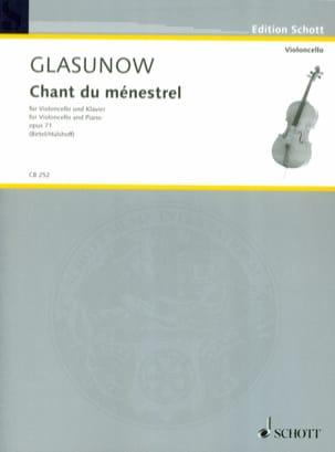 Chant du ménestrel, op. 71 Alexandre Glazounov Partition laflutedepan