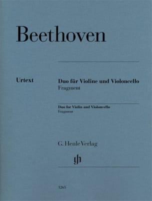Duo pour violon et violoncelle - Fragment BEETHOVEN laflutedepan