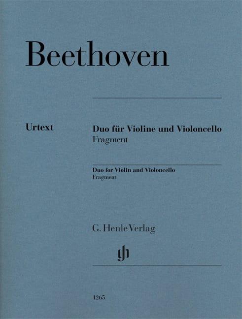 Duo pour violon et violoncelle - Fragment - laflutedepan.com
