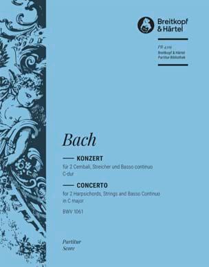 Konzert C-Dur für 2 Cembali BWV 1061 - Conducteur - laflutedepan.com
