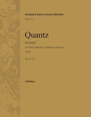 Flötenkonzert G-Dur - QUANTZ - Partition - laflutedepan.com