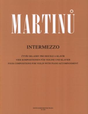 Bohuslav Martinu - Intermezzo - Partition - di-arezzo.co.uk