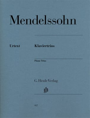 MENDELSSOHN - Trios - Violin, cello and piano - Partition - di-arezzo.co.uk