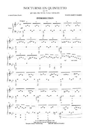 Nocturne en Quintetto - Parties - laflutedepan.com