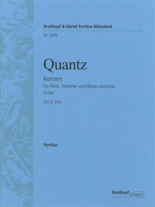 Flötenkonzert G-Dur - QV 5 : 174 - Partitur - laflutedepan.com
