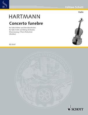 Concerto funèbre 1939 Karl Amadeus Hartmann Partition laflutedepan