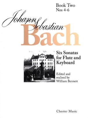 6 Sonatas - Volume 2 - Flûte clavecin BACH Partition laflutedepan