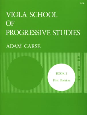 Viola School of Progressive Studies Volume 2 Adam Carse laflutedepan