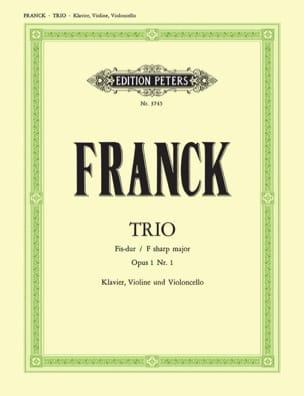 Trio Fis-Dur op. 1 n° 1 -Stimmen FRANCK Partition laflutedepan