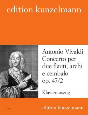 Concerto op. 47 n° 2 -2 Flauti piano VIVALDI Partition laflutedepan