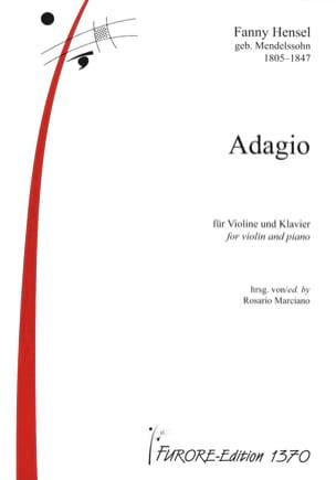 Adagio Fanny Hensel-Mendelssohn Partition Violon - laflutedepan