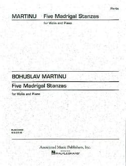Bohuslav Martinu - 5 Madrigal Stanzas - Partition - di-arezzo.co.uk
