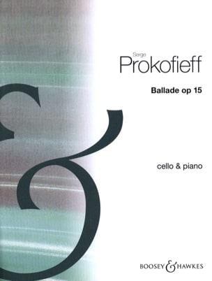 Ballade op. 15 PROKOFIEV Partition Violoncelle - laflutedepan