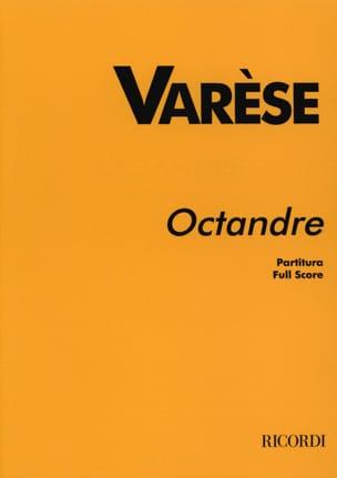 Octandre - Partitur Edgard Varèse Partition laflutedepan