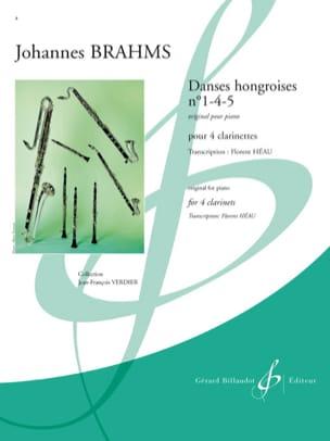 Danses Hongroises N°1-4-5 BRAHMS Partition Clarinette - laflutedepan