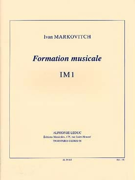 Formation musicale - IM1 Ivan Markovitch Partition laflutedepan