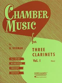 Chamber Music clarinets trios vol 1 easy H. Voxman laflutedepan