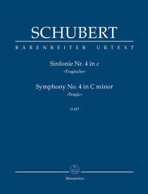 Symphonie N°4 Tragische SCHUBERT Partition Petit format - laflutedepan
