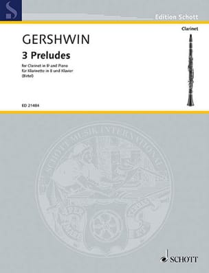 3 Préludes GERSHWIN Partition Clarinette - laflutedepan