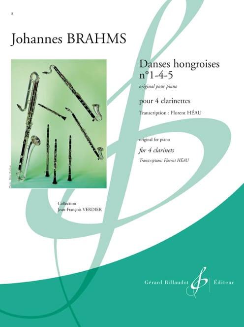 Danses Hongroises N°1-4-5 - BRAHMS - Partition - laflutedepan.com