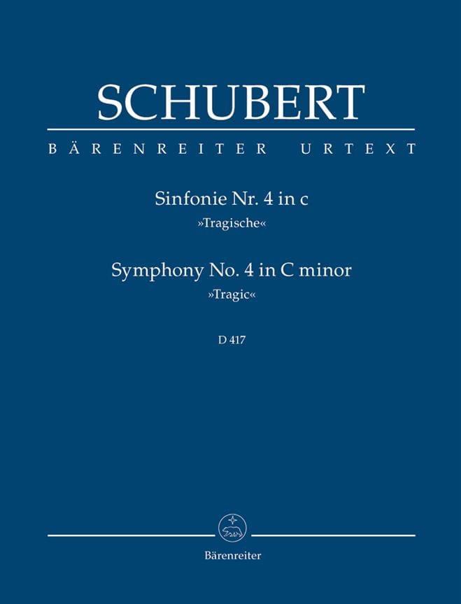 Symphonie N°4 Tragische - SCHUBERT - Partition - laflutedepan.com