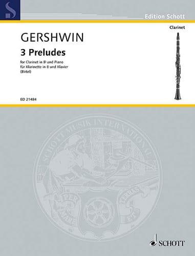 3 Préludes - GERSHWIN - Partition - Clarinette - laflutedepan.com