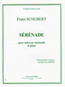 Sérénade - Violon ou Cello SCHUBERT Partition Violon - laflutedepan
