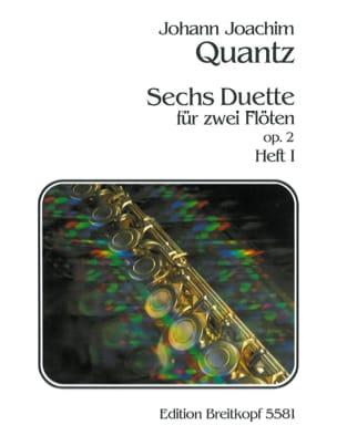 6 Duette op. 2 -Heft 1 - 2 Flöten QUANTZ Partition laflutedepan