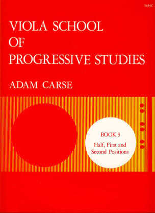 Viola School Of Progressive Studies Volume 3 Adam Carse laflutedepan