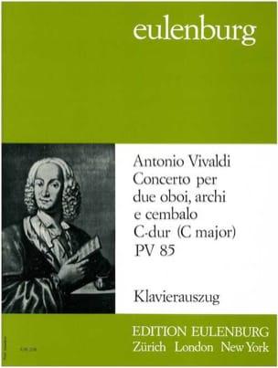 Konzert 2 Oboes In C, Pv 85 - Trio 2 Hautbois-Piano laflutedepan