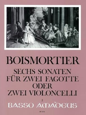 6 Sonates Opus 14 BOISMORTIER Partition Violoncelle - laflutedepan