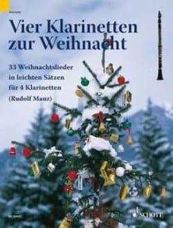 Vier Klarinetten zur Weihnacht Rudolf Mauz Partition laflutedepan